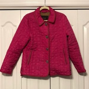 Quilted Pink Coach Light Weight Jacket